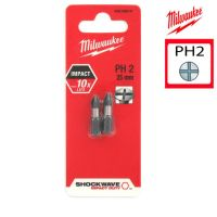 Биты для шуруповерта PH2 Shockwave MILWAUKEE 4932352431